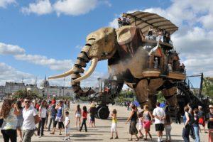 Machines, éléphant, nantes, Loire, Bretagne sud, métropole, gite, musée